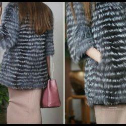 Lightweight fur coat