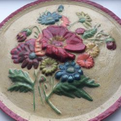 Plaster plate painting