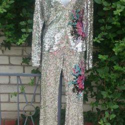 LadyArtigli evening suit handmade, sequin
