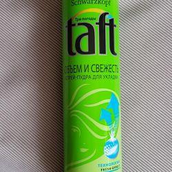 Taft-şekillendirici toz spreyi