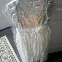 The dress is elegant