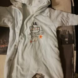 Jumpsuit Mothercare velor 3-6 months