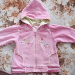 Children's blouse with a hood with a zipper