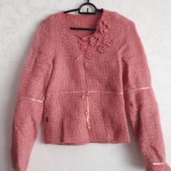 Jacket made of natural yarn