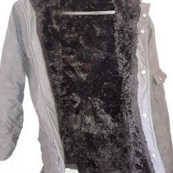 Jacket on the fur.