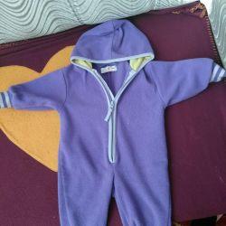 Fleece overalls. Little one.