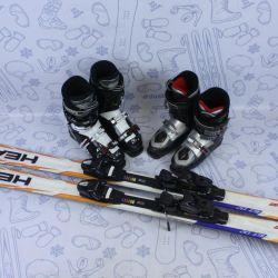 Alpine skiing Head 163 + fastenings + boots