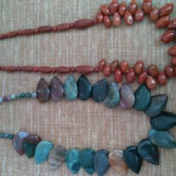 Necklace made of natural stones