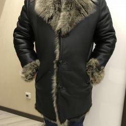 Şık erkek koyun derisi ceket