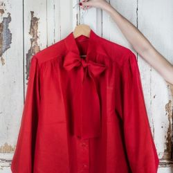Vintage Blouse with Bow
