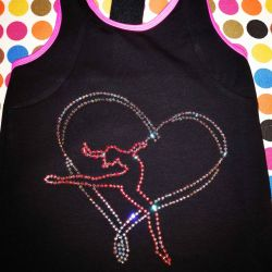 Rhinestone applique on clothes names, drawings