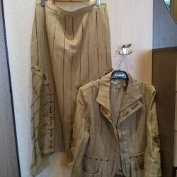 Κοστούμι (σακάκι, φούστα) μεγέθους 46-48
