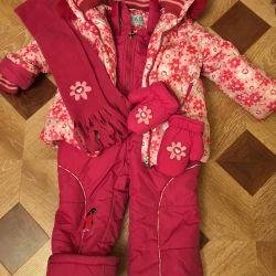 Winter jacket, kombez, scarf, mittens + 🎁