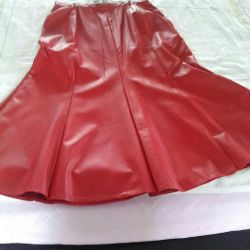 Skirt nat. Leather