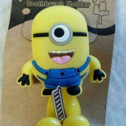 Velcro Toothbrush Holder Minion