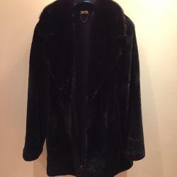 Ανδρικό παλτό γούνας νέο!