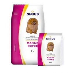 Premium. Dry food for small dogs Sirius.10kg