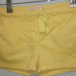 Shorts for girls on the growth of 122-138