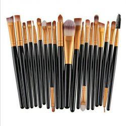 Makyaj için fırça seti (20 adet)