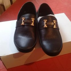 New leather loafers 32 size
