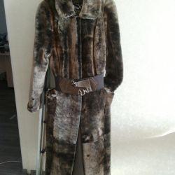 Mouton γούνινο παλτό