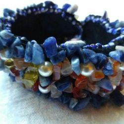 Handmade bracelet made from natural stones
