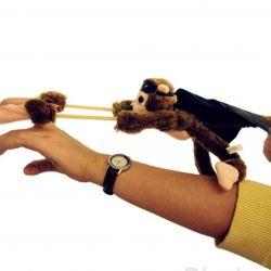Slingshot flying monkey with sound