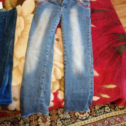 Jeans in a new condition for 8/9 years