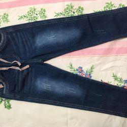 Новые джинсы на мальчика длина 72см