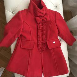 Пальто для девочки новое с этикенкой