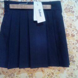A new, school skirt.