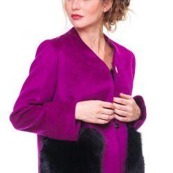 Νέο παλτό με τσέπες γούνας Μεγέθη - M, L