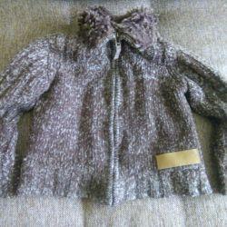 Sıcak kahverengi ile sweatshirt