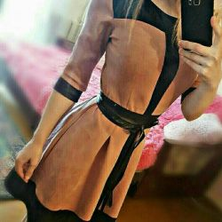 new dress, suede