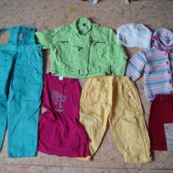 Package with clothes for girls 128-134
