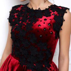 Βελούδινο φόρεμα Marsala