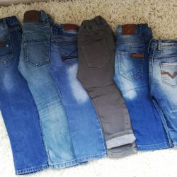 Jeans for a boy (from 6 m. To 5 years)