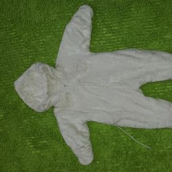 Jumpsuit from birth on cotton pad insulated, exchange