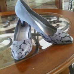 Новые туфли замша(велюр)