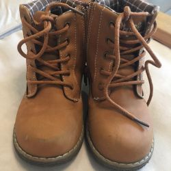 Boots for a boy on a cotton lining