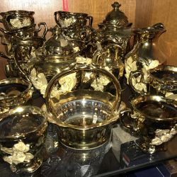 Golden tea service