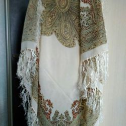 Chiffon shawl with tassels