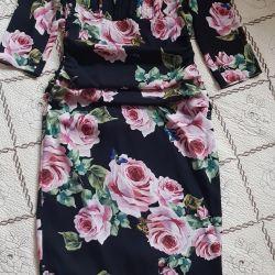 Dolce & gabbana elbise, ipek, orijinal