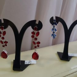 Evening earrings. New