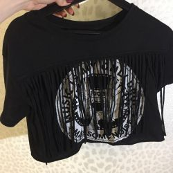 Kırpma üst Tişört