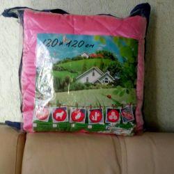 Saten battaniye-yatak örtüsü 120 * 120 cm