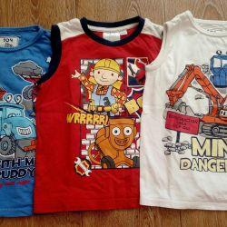 Miki, tricouri, polo pentru un băiat de 3-5 ani