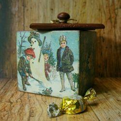 Decoupage box gift sweets home decor showcases