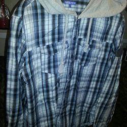 Men's shirt with a hood