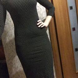 Платье длинное в горох